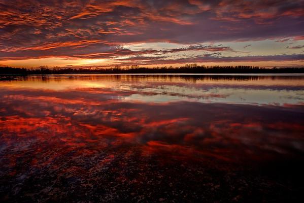 'Backdraft' - Sonnenuntergang Rheinauen