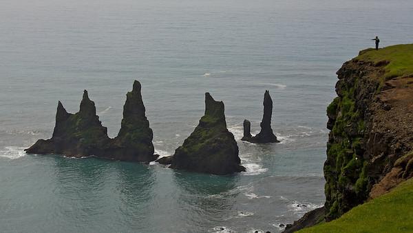 Blick auf Reynisdrangar, Island