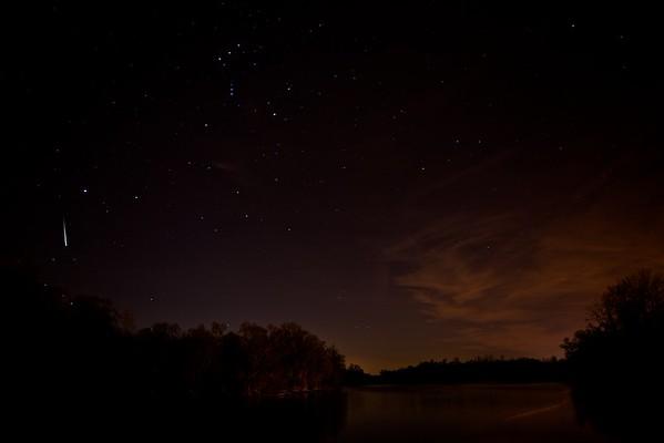 Sternenhimmel über dem Altrhein