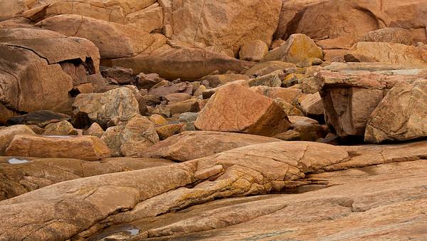 Felsen auf der Insel Smögen, Bohuslän - Schweden