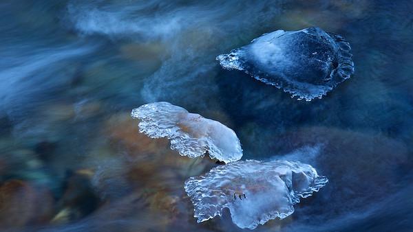 Eis / Ice Kalserbach, Nationalpark Hohe Tauern, Osttirol - Österreich / Austria