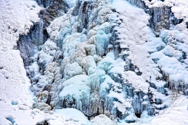 Eis am Haßlacher Schleier-Wasserfall Nationalpark Hohe Tauern, Osttirol - Österreich / Austria