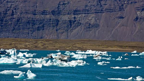Treibeis in der Gletscherlagune Jökulsárlón - Island