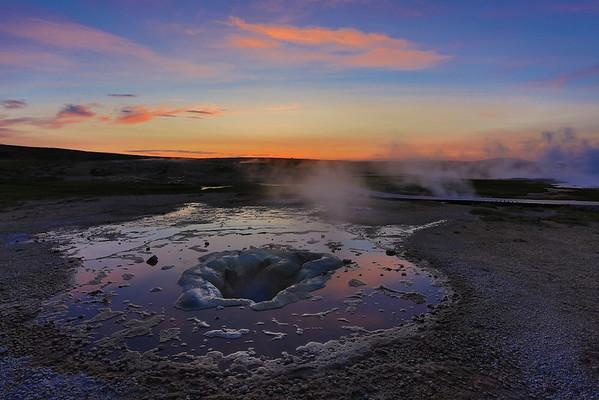 Hot Springs im Geothermalgebiet Hveravellir, Island