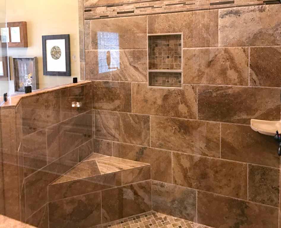 professional glass tile shower