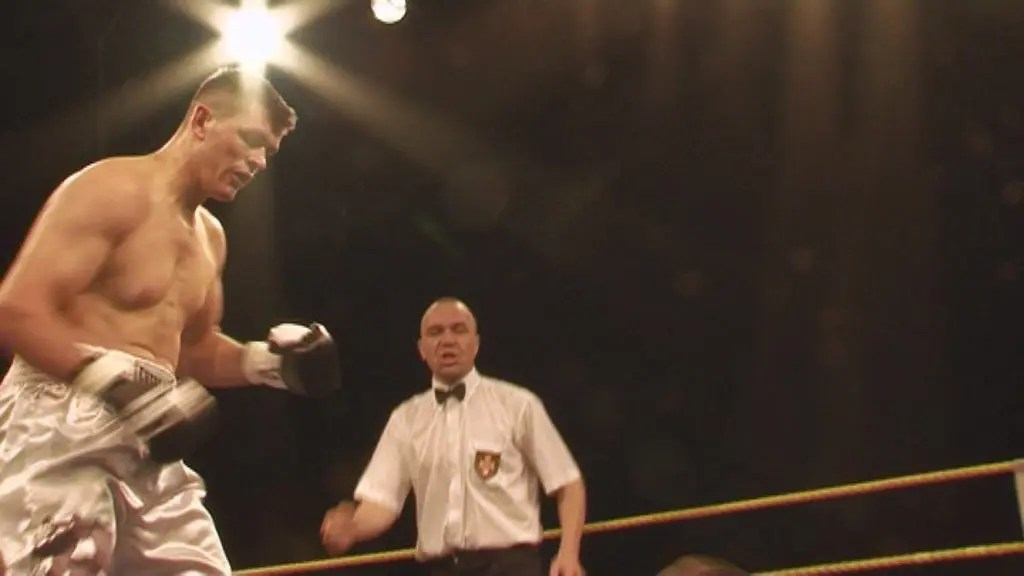 Gjergjaj im Ring während seines Profi-Kampfes.