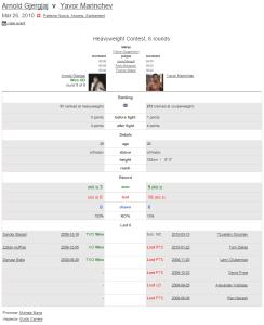 Fight 04: 26.03.2010 - vs. Yavor Marinchev