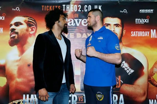 Tipping the scales: Haye and Gjergjaj go head-to-head