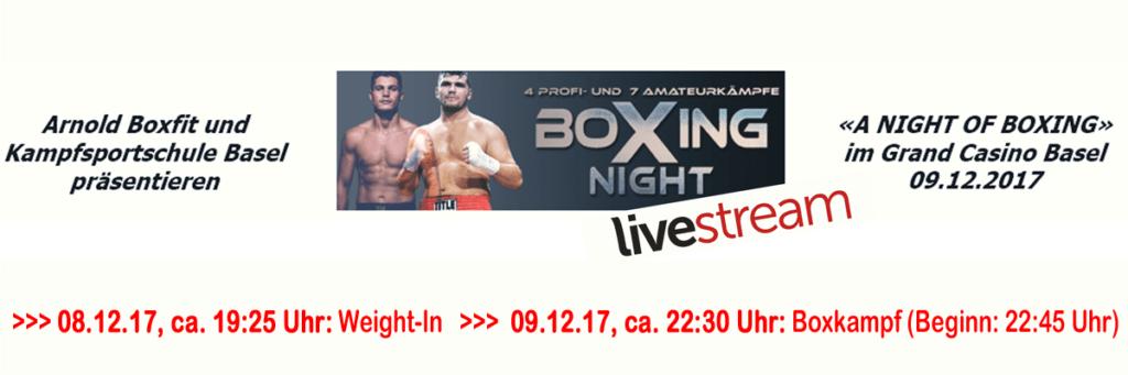 Liveübertragung des 32. Profi-Boxkampfes von Arnold the Cobra Gjergjaj