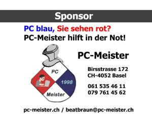 PC-MEISTER Beat Braun, Birsstrasse 172, 4052 Basel