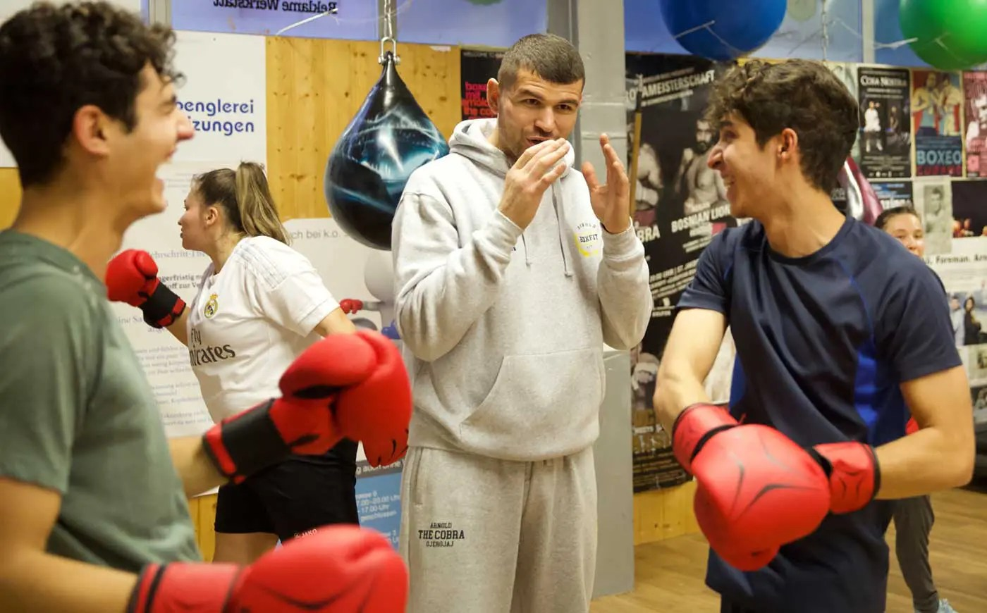 Fitness Gruppentraining & Managerboxen bei Arnold Boxfit