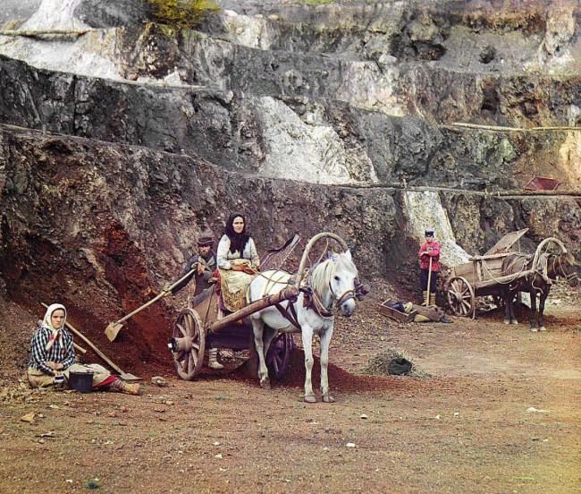Rodzinna eksploatacja rud żelaza koło Jekateryneburga