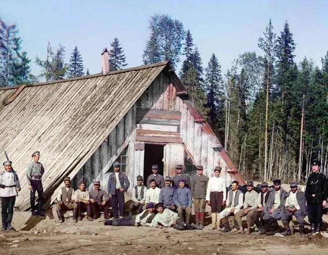 Jeńcy wojenni z austro-węgierskiej armii.