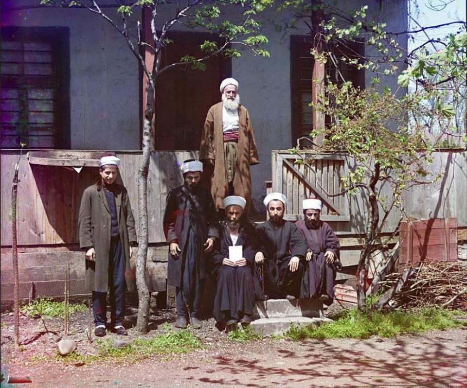 Mułłowie w meczecie Azizya, Batumi.