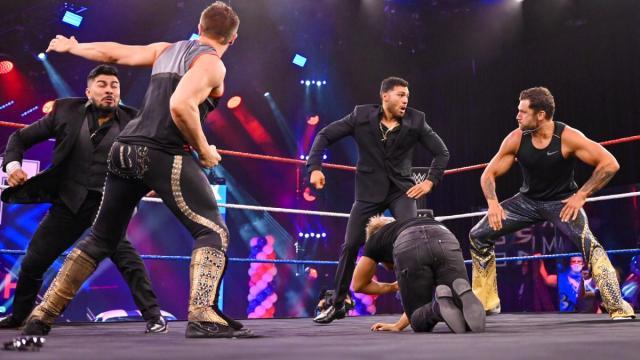 Breezango save Drake Maverick from Raul Mendoza and Joaquin Wilde