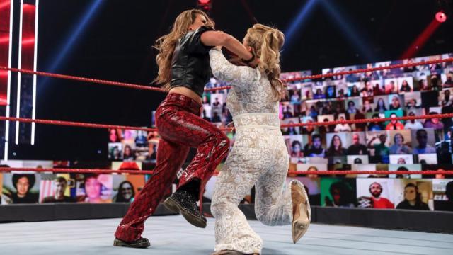 Mickie James knocks down Natalya