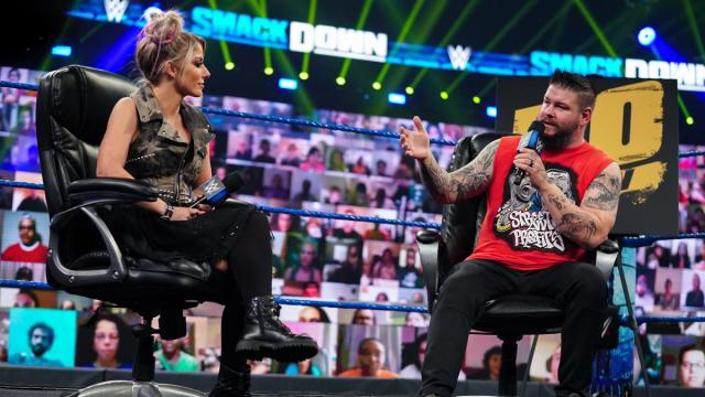 Alexa Bliss on the Kevin Owens Show