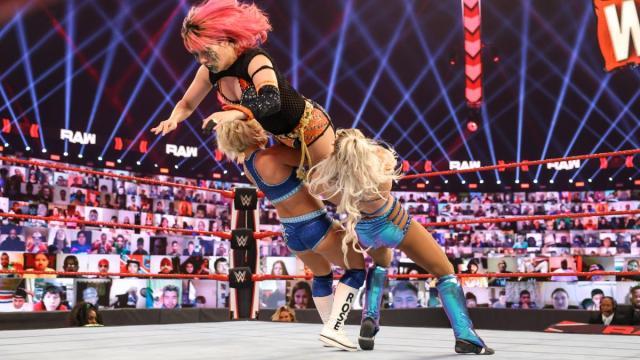 Mandy Rose and Dana Brooke double team Asuka