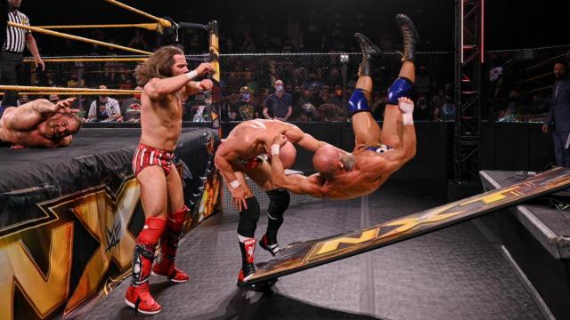 GYV slam Tommaso Ciampa ontot he NXT sign