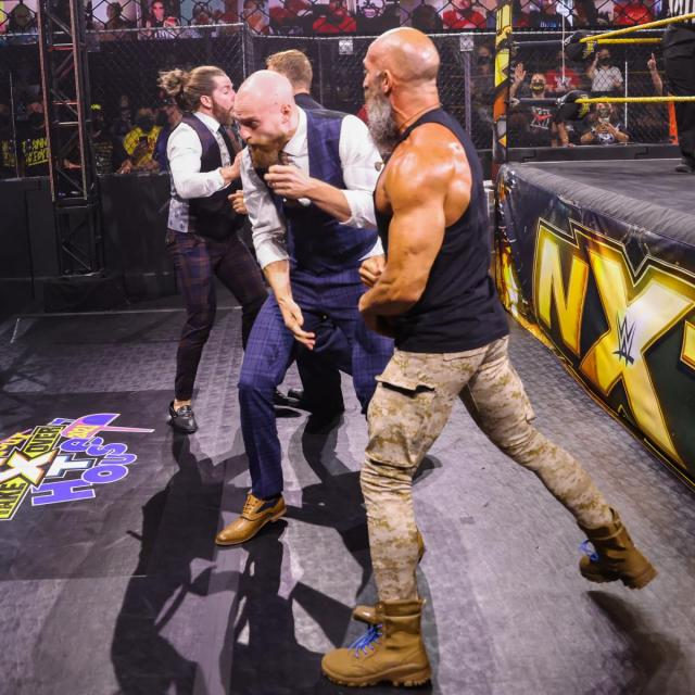 Tommaso Ciampa and Timothy Thatcher brawl with GYV