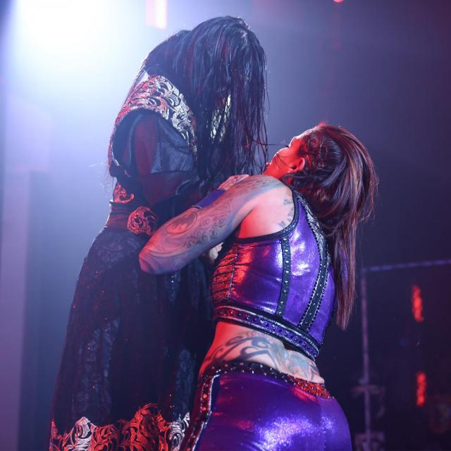 Mei Ying with Mercedes Martinez by the throat