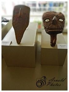 Mascaras Funerarias con pinturas faciales - Epoca Wari