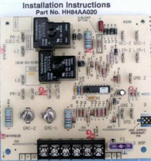 HH84AA020 Bryant Carrier Furnace Control Circuit Board