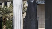 Standbeeld nabij Burj Khalifa & Dubai Mall