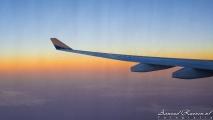 Zonsondergang boven de Perzische Golf