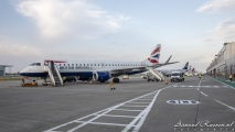 Embraer Line up at London City Airport