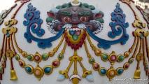Mooie vaas bij Boudhanath Tempel
