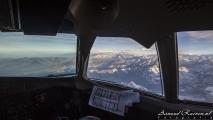 Himalaya vanuit de cockpit