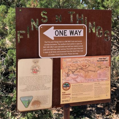 The Fins 'n' Things trailhead.
