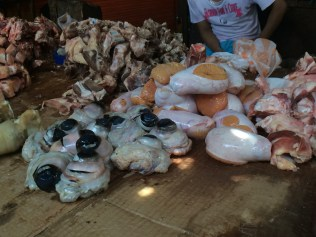 From eyeballs to entrails, all manner of meat products are sold at the Mercado