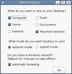 Linux Mint - mintDesktop
