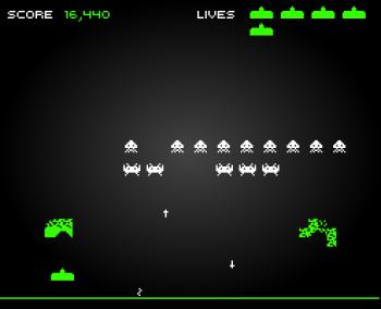 versión flash de space invaders