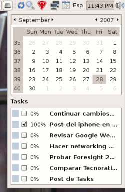 Ubuntu - Tasks: Integración al Calendario
