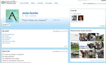 Yahoo Mash - Perfil personalizado con un poco de CSS