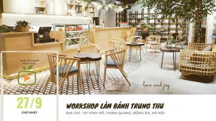 workshop, trung thu cung be, lam banh trung thu, vui trung thu, ruoc den, pha co, tap lam banh trung thu