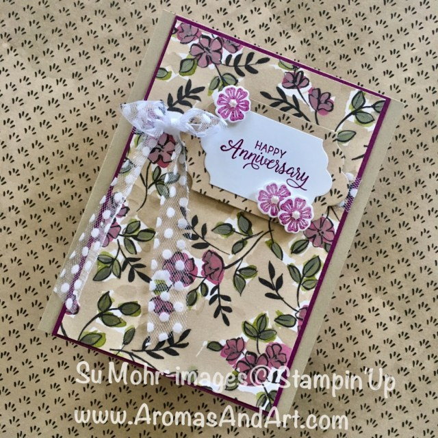 """By Su Mohr for tttc044 and GDP134; Click """"read it"""" to go to my blog for details! Featuring: Share What You Love, Lots of Labels, Beautiful Bouquet, Polka Dot Tulle Ribbon; #anniversarycards #sharewhatyoulove #polkadottulleribbon #lotsoflabels #stampinup"""