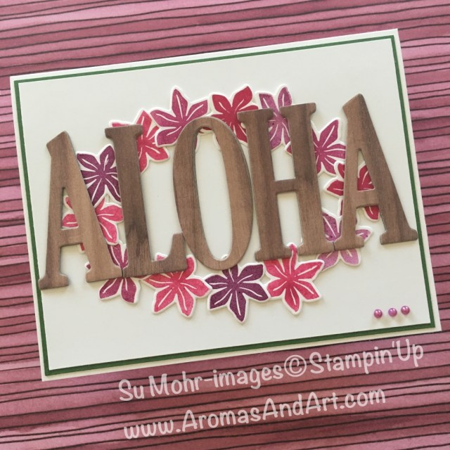 By Su Mohr for Kylie Bertucci's Internatinal Blog Highlights; Click READ to go to my blog for details! Featuring: Large letters, Wood Textures, Beautiful Bouquet, Bouquet Bunch, Better Together; #Hawaiitravel #koawood #Hawaiianleis #paperleis #hawaiianhandmadecards #stampinup