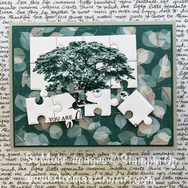 Bt Su Mohr for Kylie Bertucci's Top Ten Blog Hop; Click READ to go to my blog for details! Featuring: Puzzle Pieces, Nature's Poem, Love You To Pieces, Rooted in Nature; #jigsawpuzzles #puzzlepieces #stampinup #rootedinnature #naturespoem #birthdaycards #masculinecards #handmadecards #diy