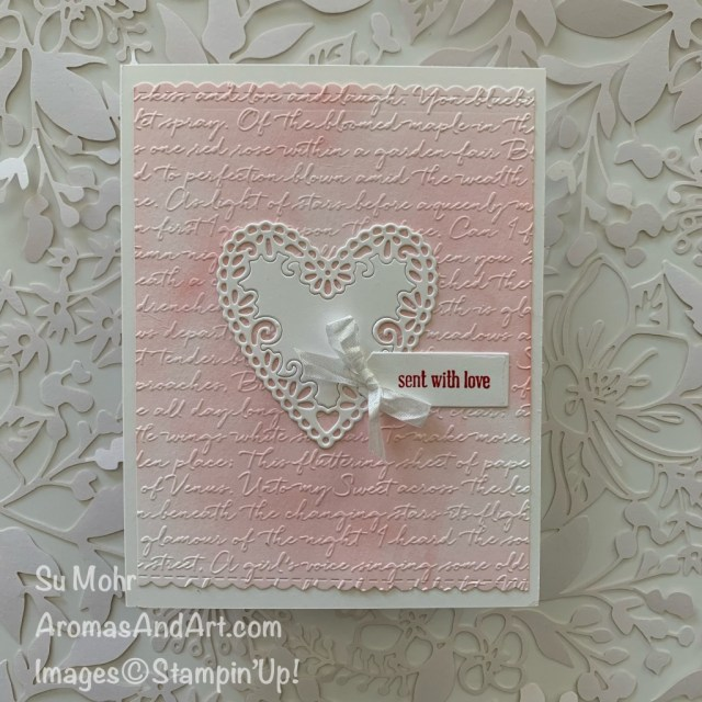By Su Mohr for GDP and FMS; Click READ or VISIT to go to my blog for details! Featuring: Be Mine Stitched Dies, Ornate Frames Dies, Itty Bitty Greetings, Scripty embossing, watercolor wash; #valentines #valentinecards #hearts #heartsoncards #beminestitcheddies #handmadecards #handcrafted #diy #cardmaking