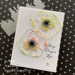 By Su Mohr for GDP253; Click READ or VISIT to go to my blog for details! Featuring: Poppy Moments Dies, Positive Thoughts Stamp Set, Textured Essentials Stamp Set,Stitched Leaves Dies;