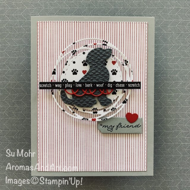 By Su Mohr for FMS; Click READ or VISIT to go to my blog for details! Featuring: Dog Punch, Playful Pets Designer Paper, Painted Labels Dies, Ornate Frames Dies, Stitched Rectangles Dies, Tasteful Textile embossing; #dogs #dogsoncards #pamperedpets #paintedlabels #cardsketches #handmadecards #handcrafted #diy #cardmaking #papercrafting #stampinup #tastefultextile #friendshipcards