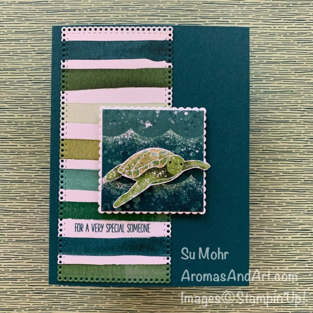 By Su Mohr for FMS; Click READ or VISIT to go to my blog for details! Featuring: Whale Of A Time Designer Paper, Forever Greenery Designer Paper, Ornate Layers Dies, Layering Squares Dies; #whaleofatime #turtles #turtlesoncards #specialsomeone #ornatelayers #forevergreenery #friendshipcards #handmadecards #handcrafted #diy #cardmaking #papercrafting #ocean #sealife #seaturtles