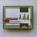 By Su Mohr for PP; Click READ or VISIT to go to my blog for details! Featuring: Heartwarming Hugs Designer Paper, Evergreen Forest embossing, In The Pines Stamp Set; #christmascards #holidaycards #holiday2020 #inthepines #christmastrees #treesoncards #pinetrees #cardsketches #handmadecards #handcrafted #cardmaking #diy #papercrafting
