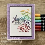 By Su Mohr for PP; Click READ or VISIT to go to my blog for details! Featuring: Word Wishes Dies, Rainbow Glimmer Paper, Stampin