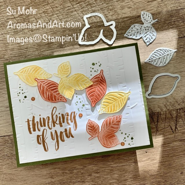 By Su Mohr for PP; Click READ or VISIT to go to my blog for details! Featuring: Rooted In Nature Bundle, Rooted In Nature Stamp Set, Nature's Roots Dies, Woodland Embossing Folder; #fall #fallcards #leaves #leavesoncards #fallleaves #naturesroots #thinkingofyoucards #handmadecards #handcrafted #diy #cardmaking #papercrafting #cardchallenges #colorcombos #stampinup #fall2020 #holiday2020 #woodlandembossing