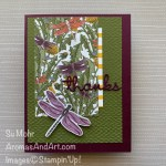 By Su Mohr for Fab Fri and #onstageathome; Click READ or VISIT to go to my blog for details! Featuring: Dragonfly Garden Bundle, Dragonflies Punch, Dandy Garden Designer Paper, Well Written Dies, Tasteful Textile embossing; #dragonflygarden #dandygarden #dragonflies #dragonfliesoncards #dragonflypunch #onstageathome #thankyoucards #wellwrittendies #handmadecards #handcrafted #diy #cardmaking #papercrafting #cardinstruction #cardsketches #alternativecards